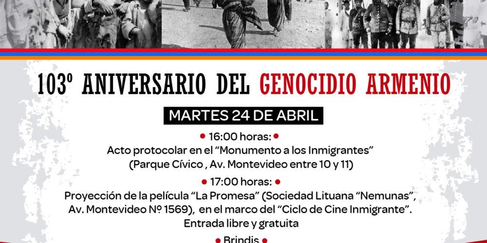 Acto en Berisso - Genocidio Armenio 23-04